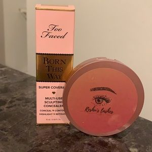 Too Faced Born This Way concealer with Free Lashes
